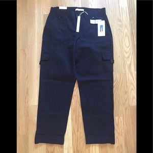 Gloria Vanderbilt cargo pants w/ rolled cuff